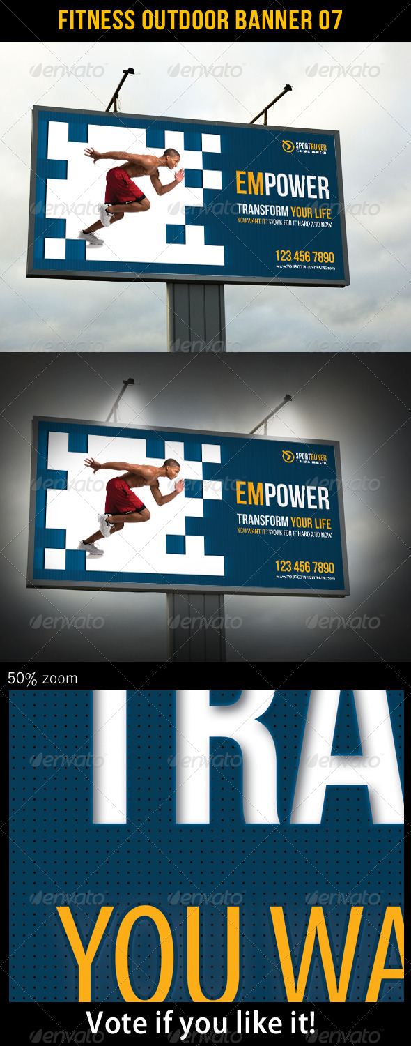 Fitness Outdoor Banner 07 - Signage Print Templates