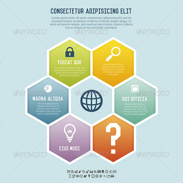 GraphicRiver Hexagon Colors Banner Background 5683332