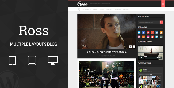Ross - Multiple Layouts Blog