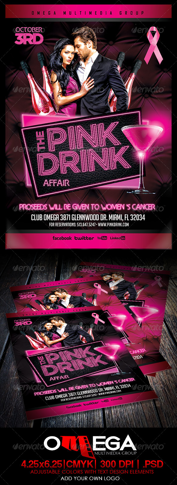 GraphicRiver The Pink Drink 5683564