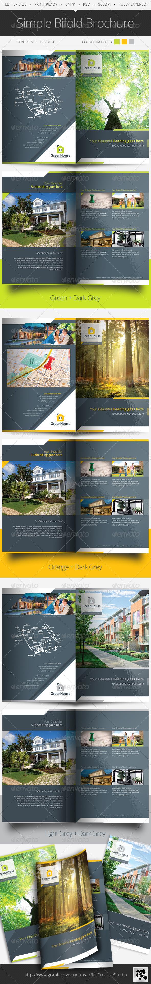 GraphicRiver Simple Bifold Brochure Vol.01 5683690
