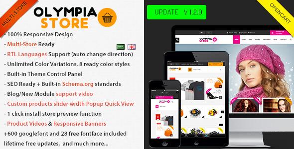 Olympia - Premium Multi-Purpose Opencart Theme - OpenCart eCommerce