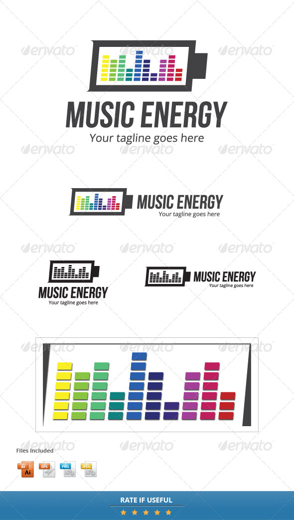 GraphicRiver Music Energy Logo Template 5684663
