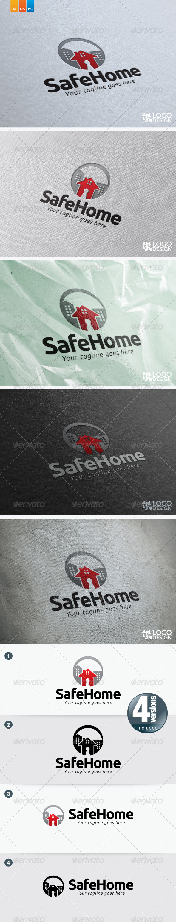 Safe Home - Buildings Logo Templates