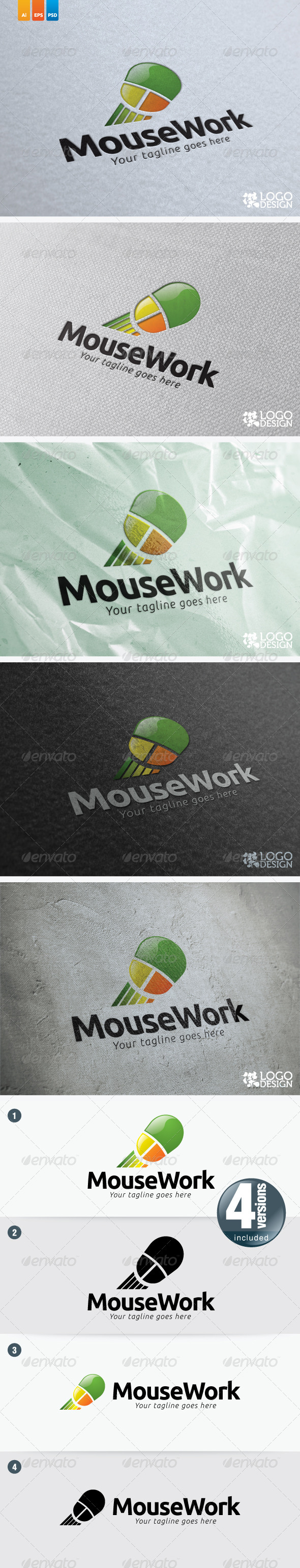 Mouse Work - Objects Logo Templates