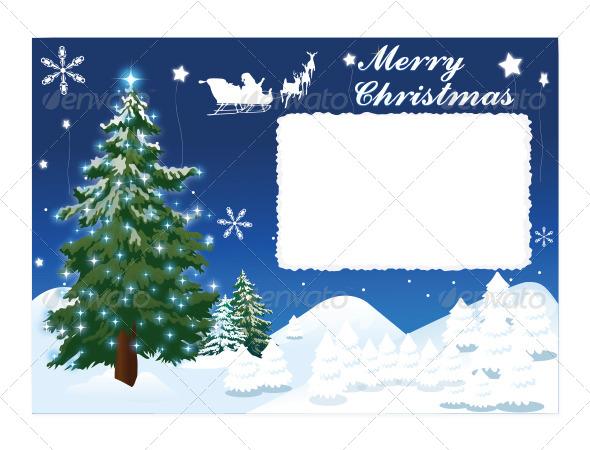 GraphicRiver Merry Christmas Postcard 5684861