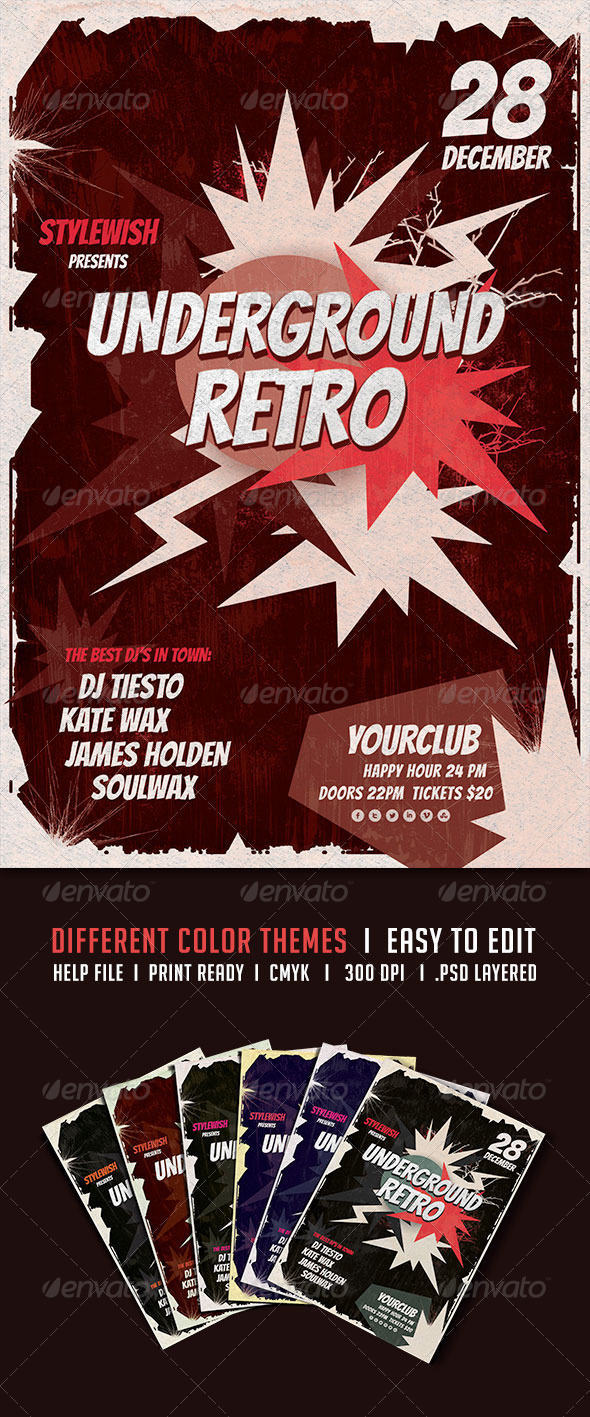 GraphicRiver Underground Retro Flyer 5684872