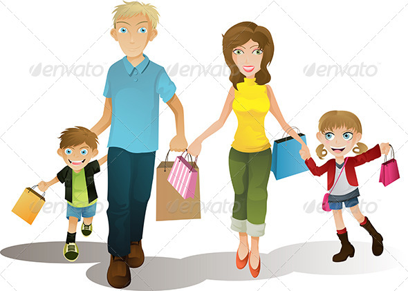 GraphicRiver Shopping Family 5685270