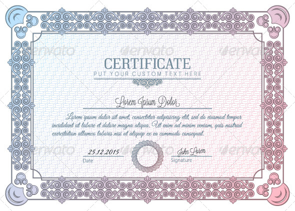 Certificate Frame Vintage Diploma