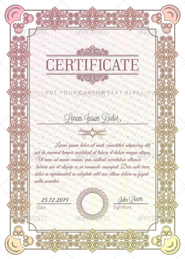 GraphicRiver Vintage Diploma Certificate 5685423