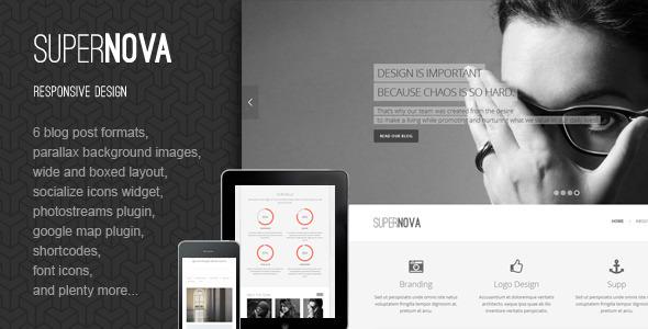 ThemeForest Supernova Responsive HTML Template 5681283
