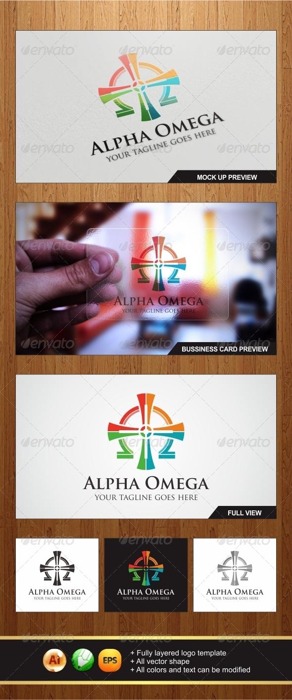 Alpha Omega Logo - Symbols Logo Templates