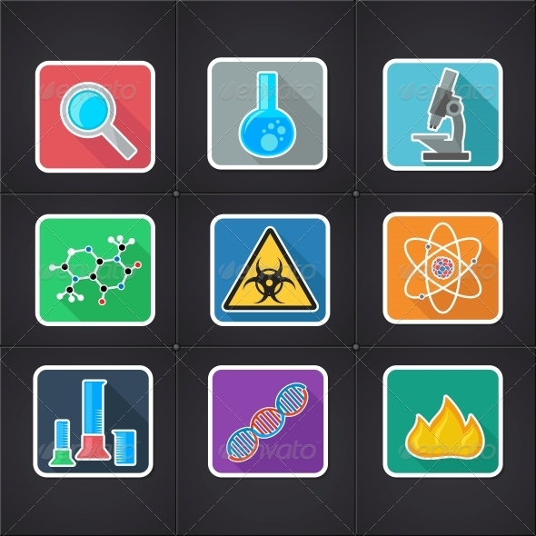 GraphicRiver Science Icons 5685489
