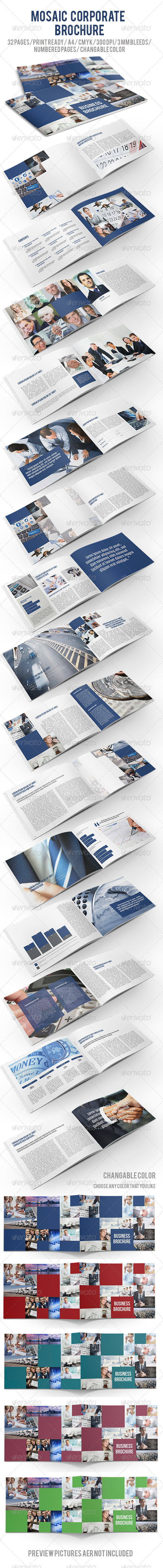 GraphicRiver Mosaic Corporate Brochure 5685498