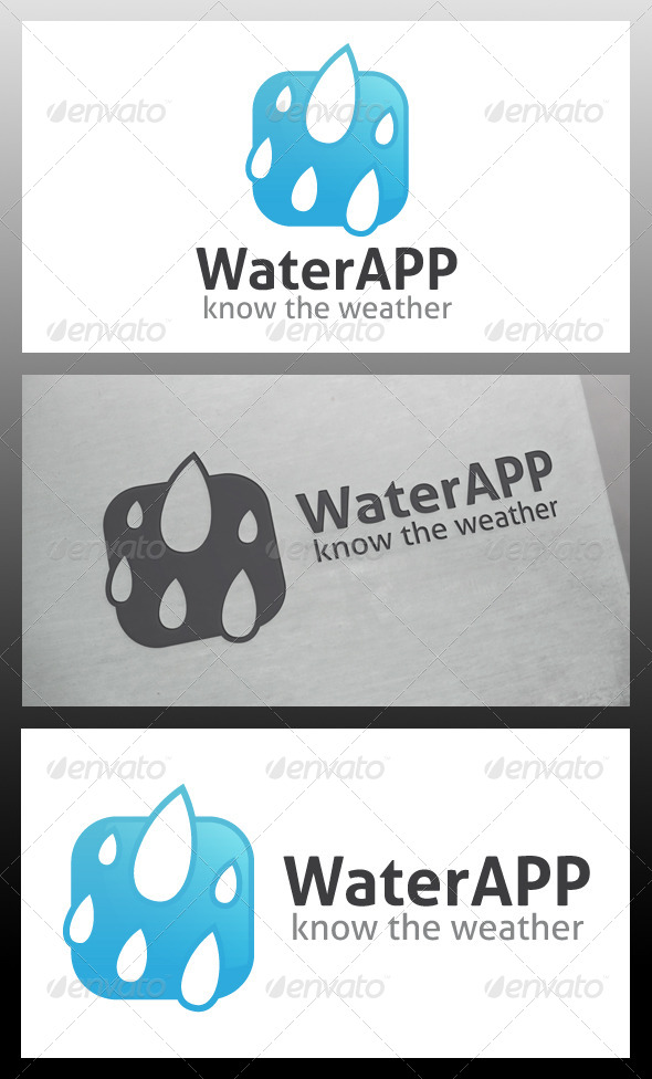 GraphicRiver Water App Logo Template 5685508