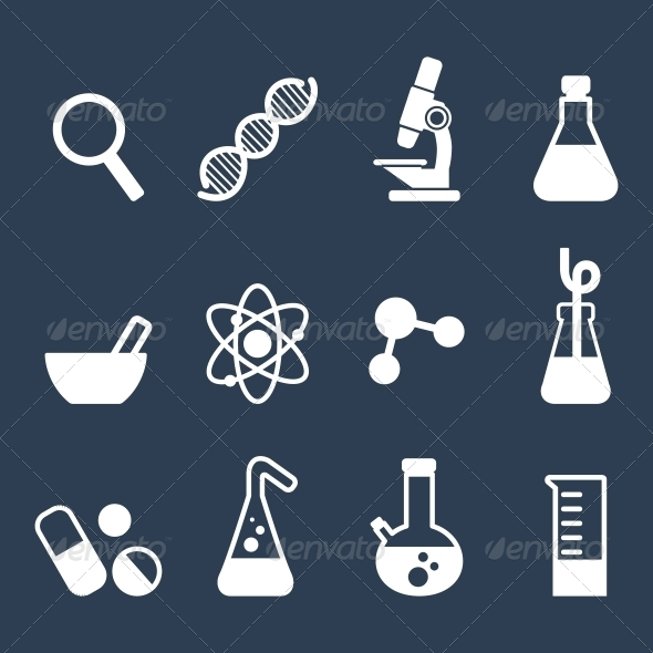 GraphicRiver Flat Science Icons 5685529