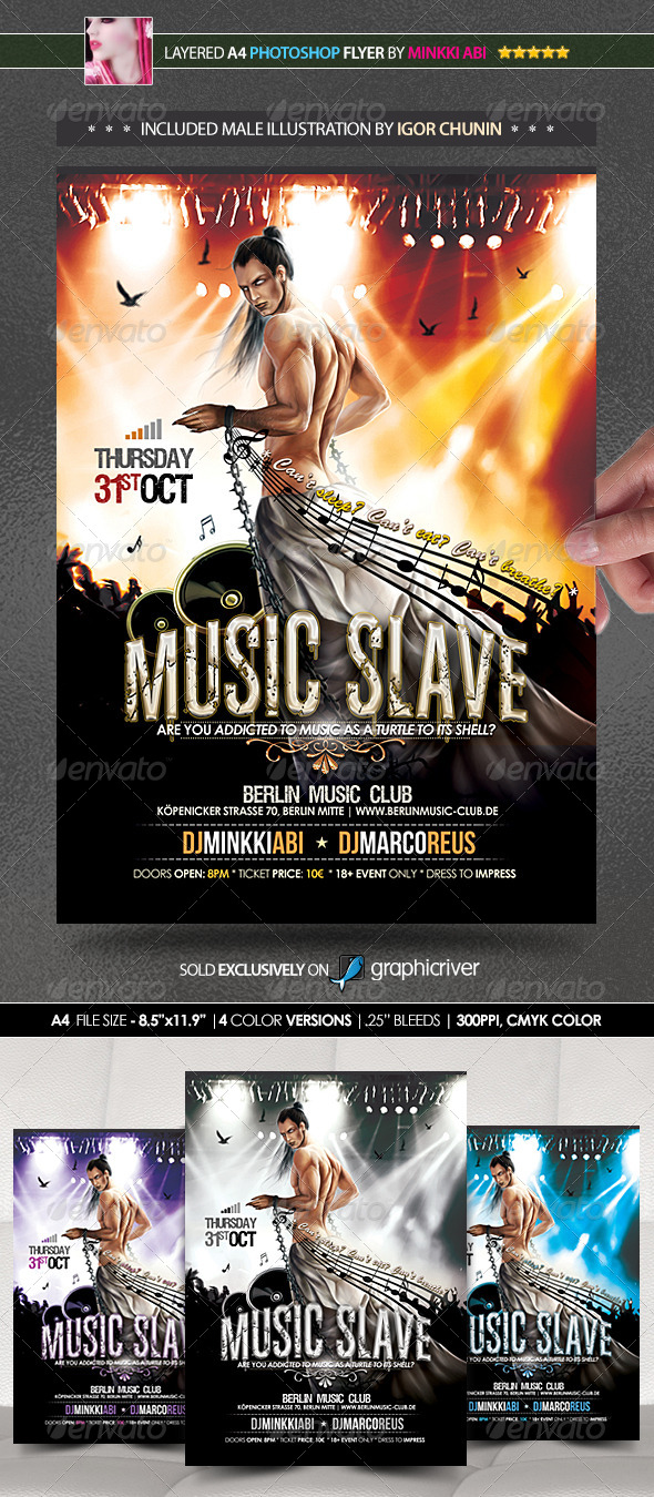 Music Slave Poster/Flyer - Events Flyers