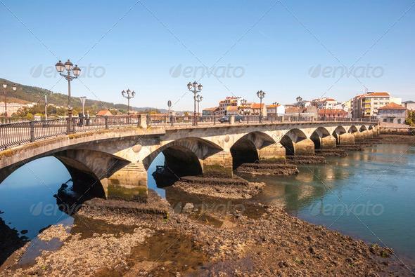 Ponte de Burgo bridge, Pontevedra, Galicia - Stock Photo - Images