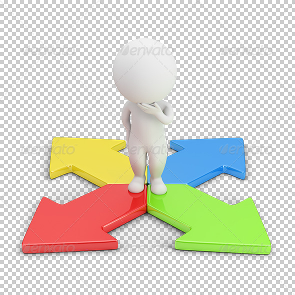GraphicRiver 3D Small People Choice of Direction 5685778