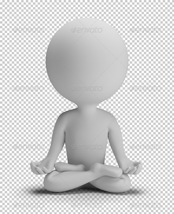 GraphicRiver 3D Small People Meditation Pose 5685835