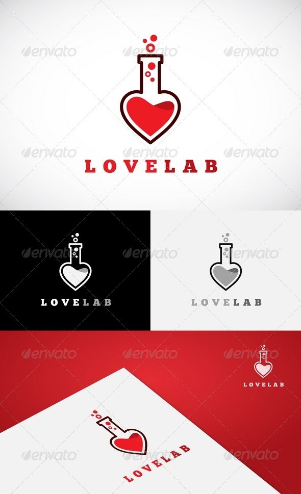 GraphicRiver Love Lab Logo Template 5680350