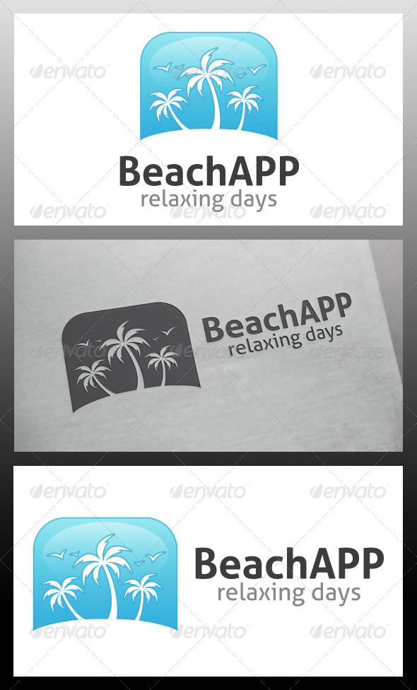 Beach App Logo Template