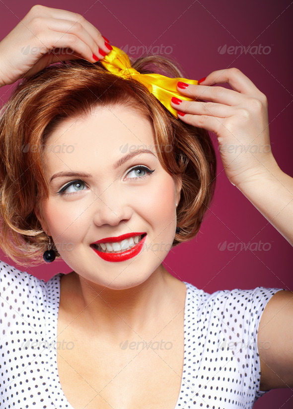 pin-up girl - Stock Photo - Images