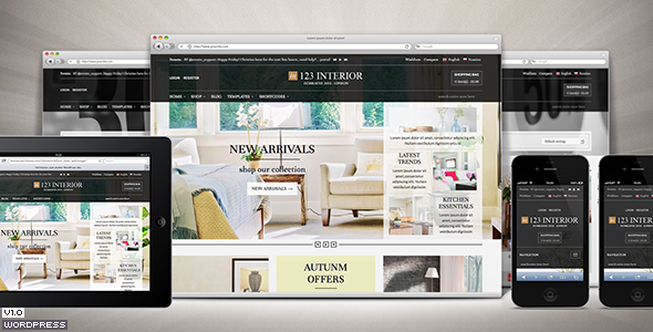 ThemeForest 123Interior eCommerce Wordpress Theme 5686428