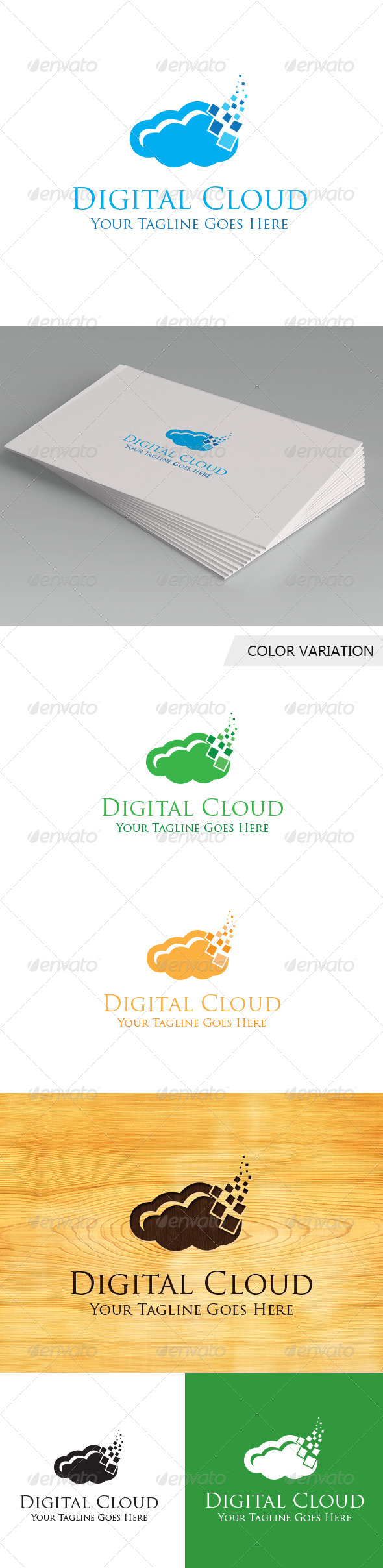 GraphicRiver Digital Cloud Logo Template 5687122