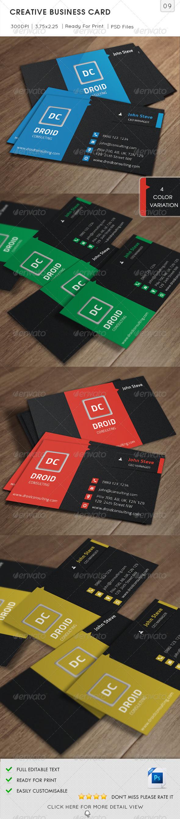 GraphicRiver Creative Business Card v9 5687282