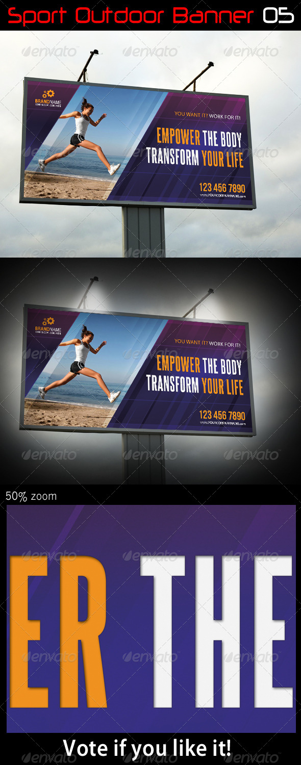 Sport Outdoor Banner 05 - Signage Print Templates