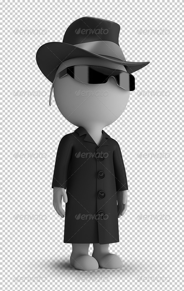 GraphicRiver 3D small people spy 5687439