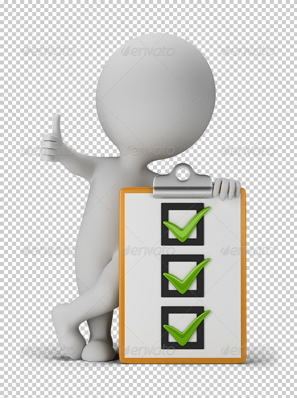 GraphicRiver 3D small people with a checklist 5687475