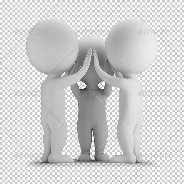 GraphicRiver 3D small people high-five 5687523