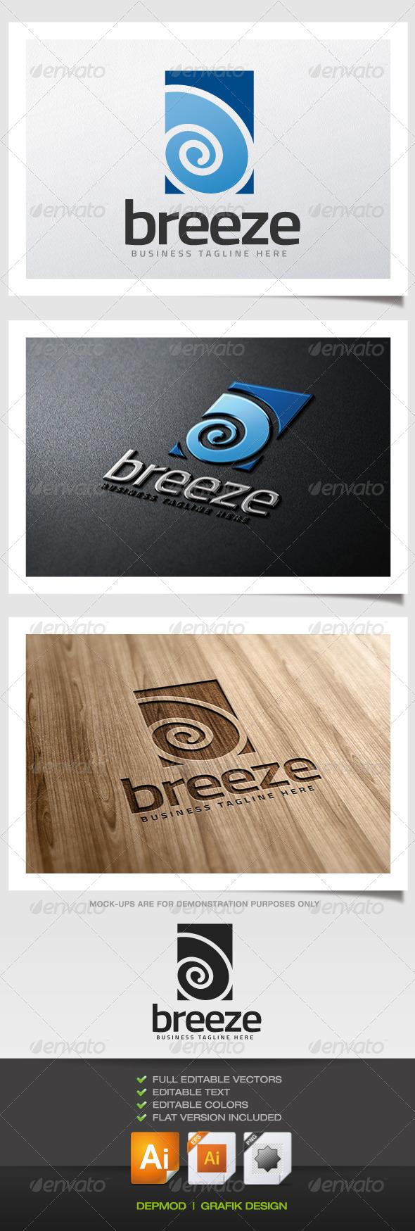 Breeze Logo - Abstract Logo Templates