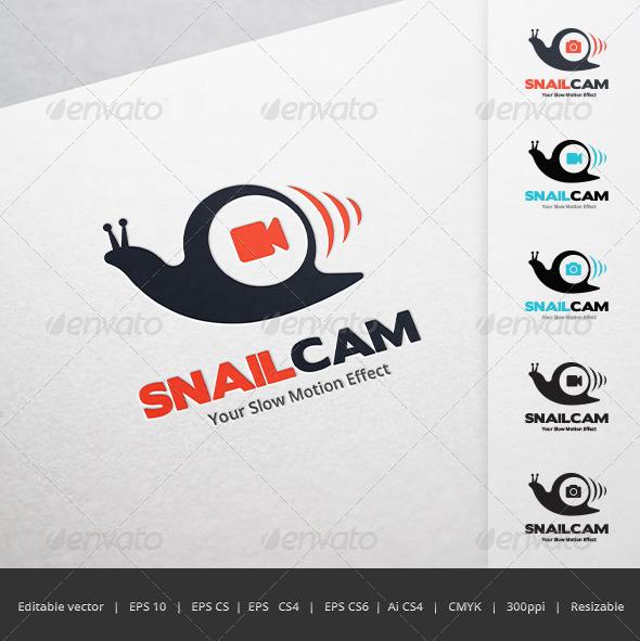GraphicRiver Snail Camera Logo 5687765