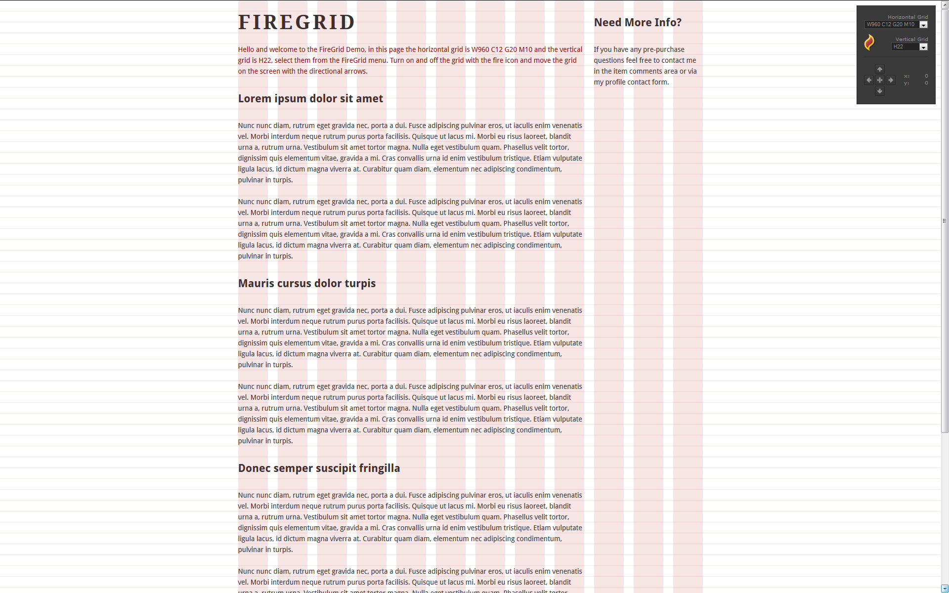 FireGrid for WordPress - Tool for web designers
