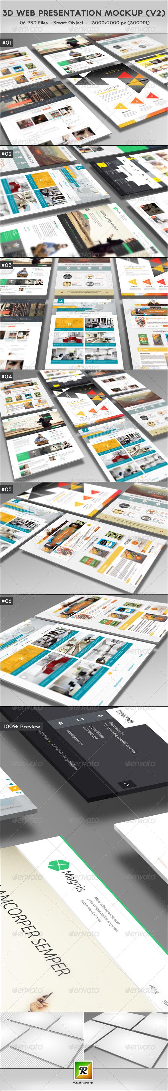 3D Web Presentation Mockup V2
