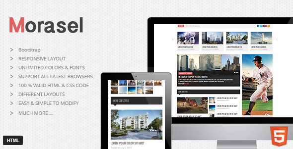 Morasel - Responsive News and Magazine HTML Theme
