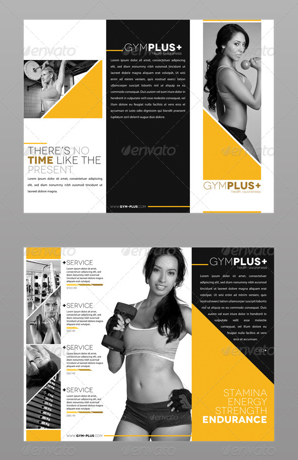 Fitness Gym Trifold Brochure by ModernLion – Gym Brochure