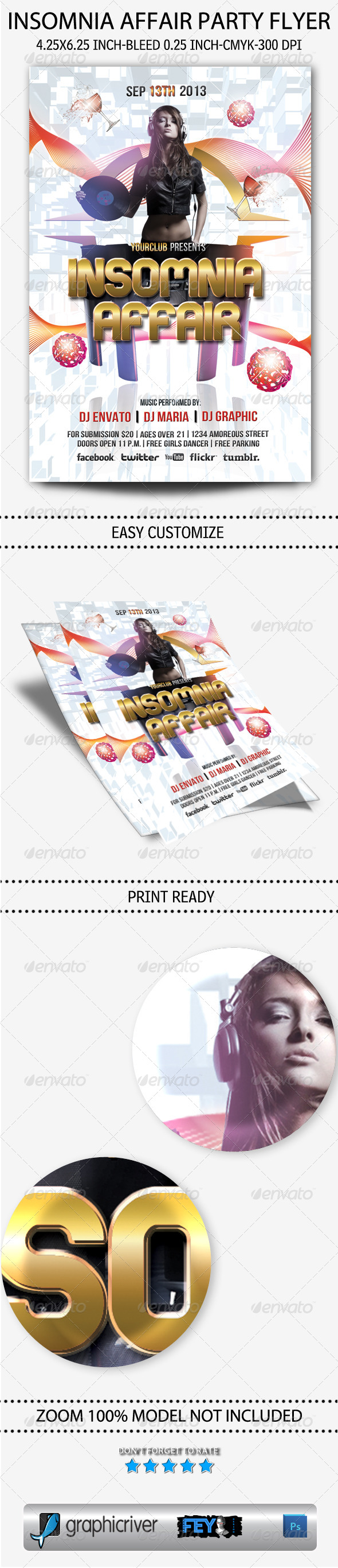 GraphicRiver Insomnia Affair Party Flyer 5605363