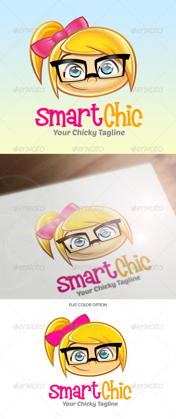 GraphicRiver Geek Girl Logo 5681916
