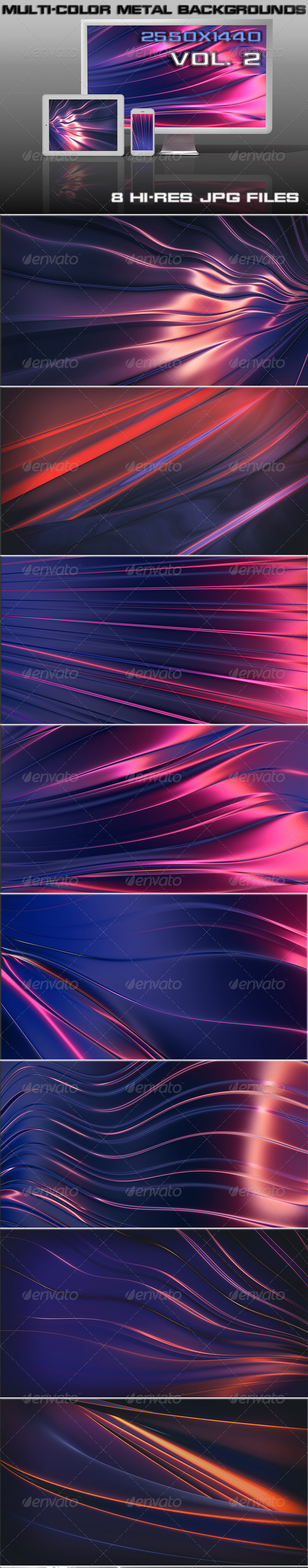 GraphicRiver Multi-Color Steel Background 5688898