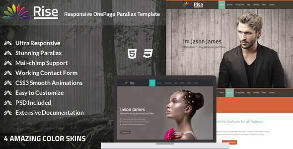 Rise | Responsive OnePage Parallax Template (Creative)