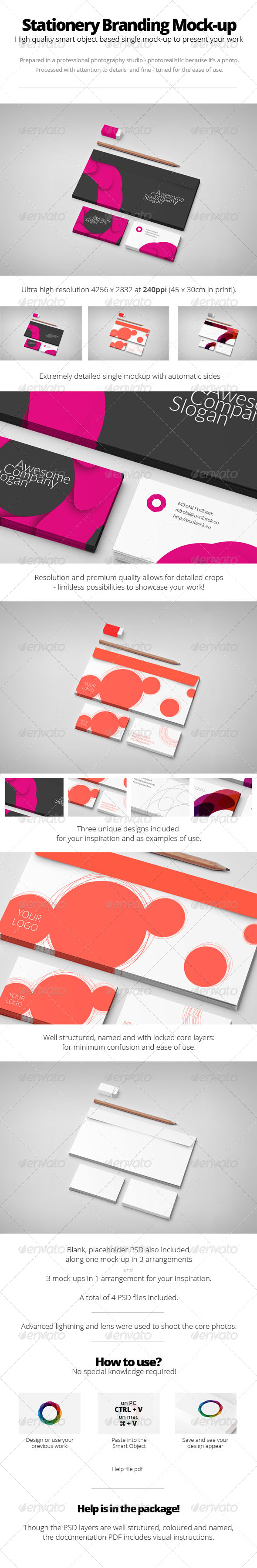 GraphicRiver Stationery Branding Mock-up 5689137