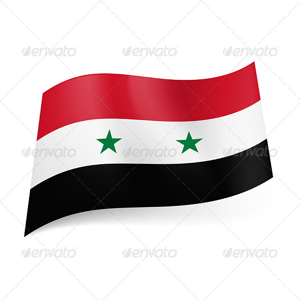 GraphicRiver State Flag of Syria 5689150