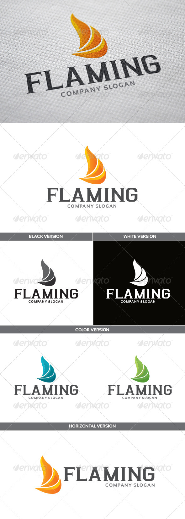 GraphicRiver Flaming Logo 5689258