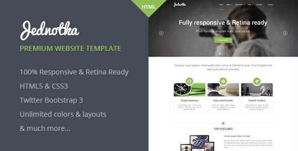 ThemeForest Jednotka Multipurpose Website HTML Template 5689597