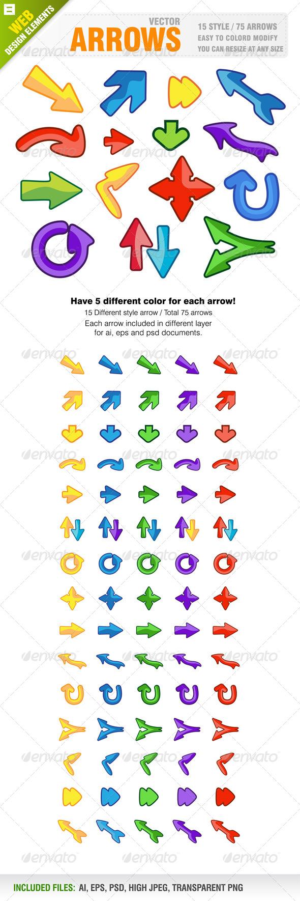 GraphicRiver 75 Arrows 5689735