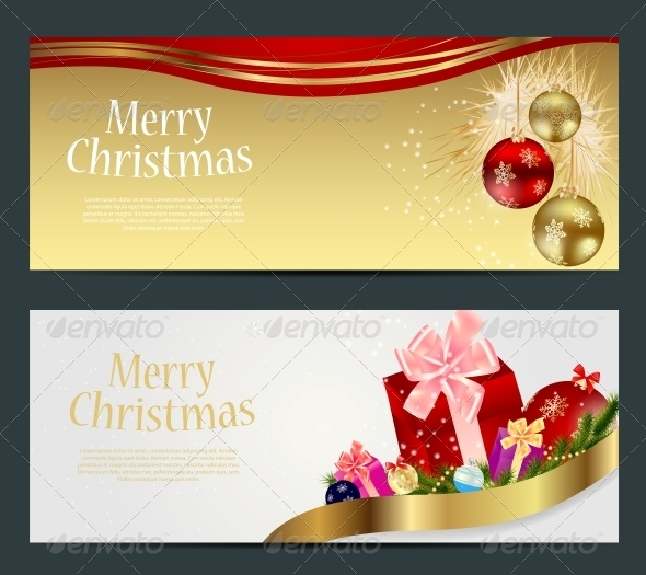 GraphicRiver Set of Cards with Christmas Balls Stars and Snowflakes 5689805